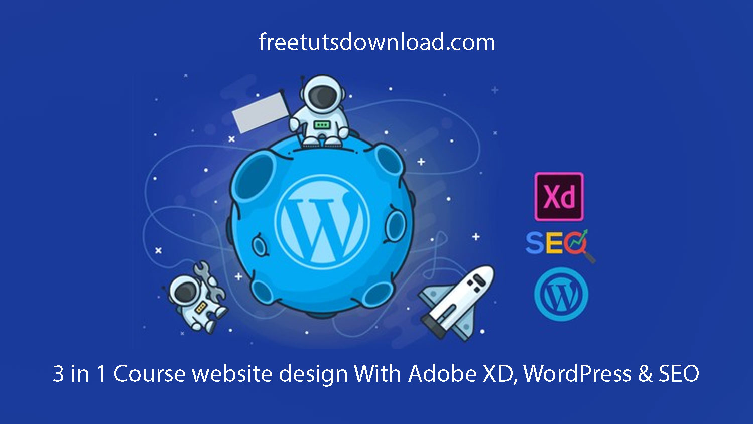 3 in 1 Course website design With Adobe XD, WordPress & SEO
