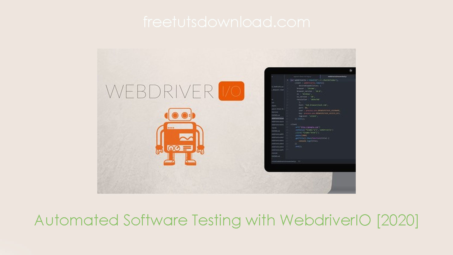 Automated Software Testing with WebdriverIO [2020] free download