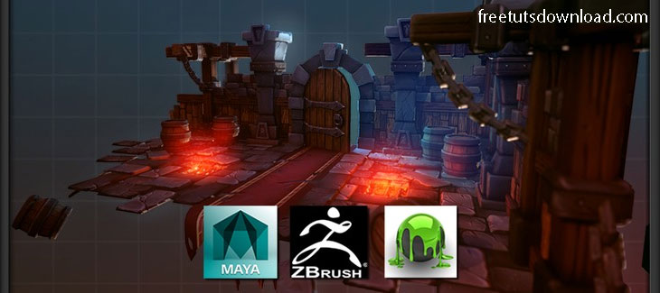 Model and Texture a Stylized Dungeon for Games