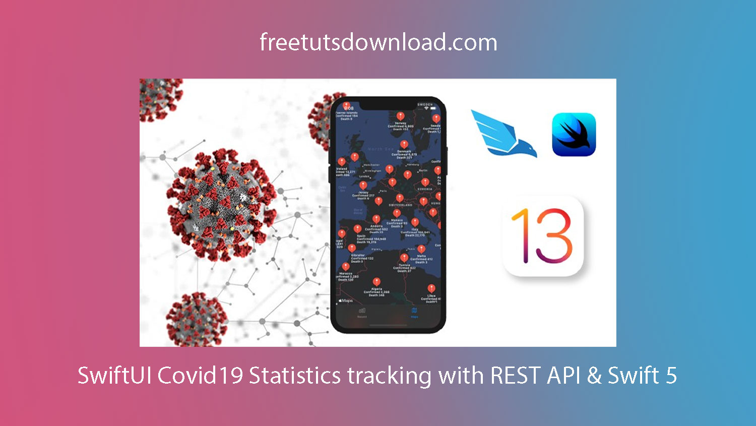 SwiftUI Covid19 Statistics tracking with REST API & Swift 5