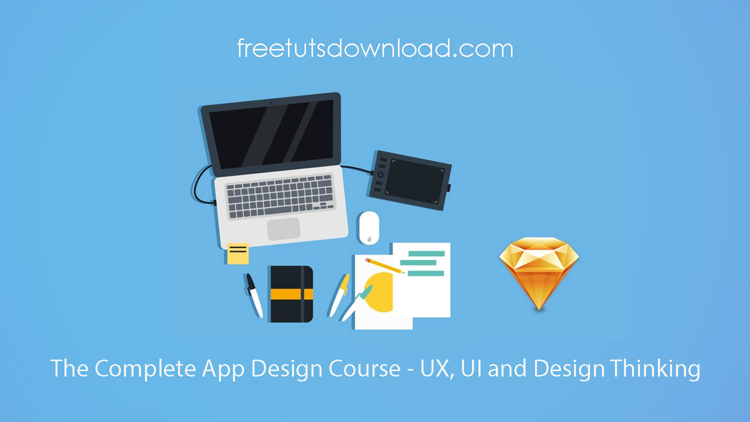 The Complete App Design Course - UX, UI and Design Thinking free download