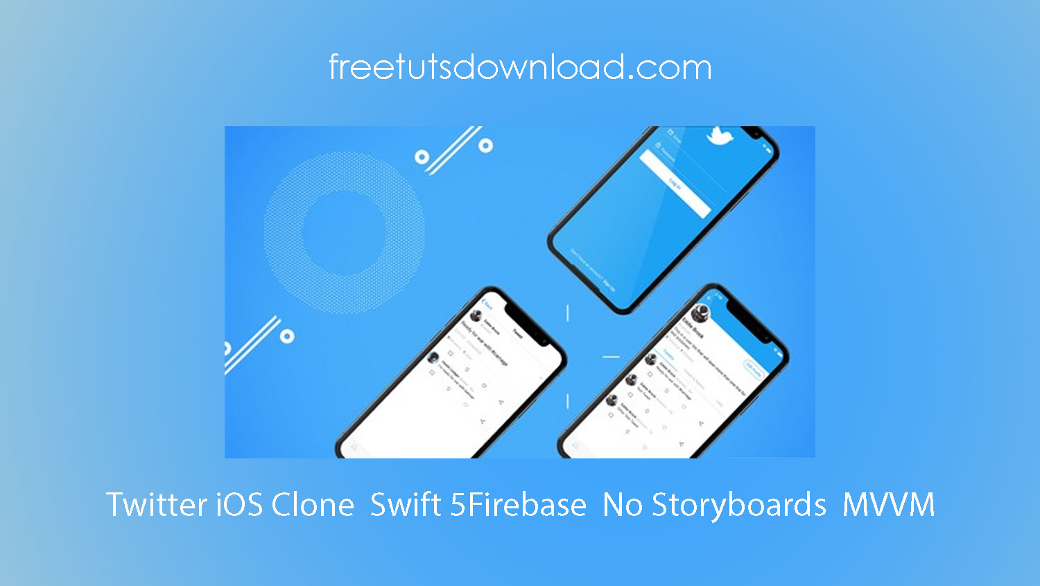 Twitter iOS Clone Swift 5Firebase No Storyboards MVVM