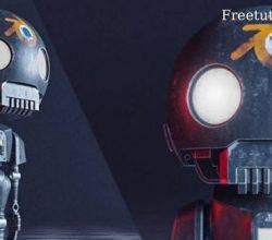 Blender: how to create the tiny k-2SO STAR WAR Robot