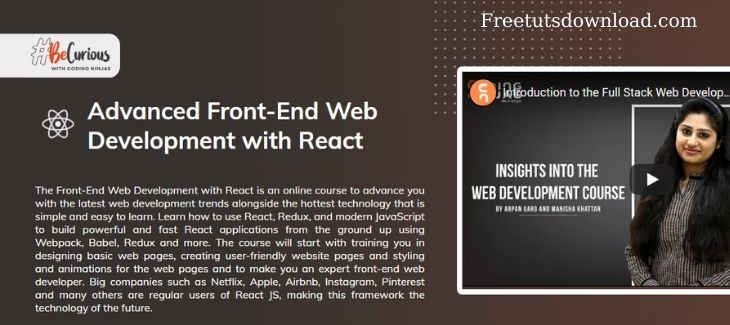 Codingninjas - Advanced Front-End Web Development with React