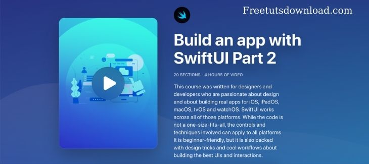 Designcode – Build an app with SwiftUI Part 2