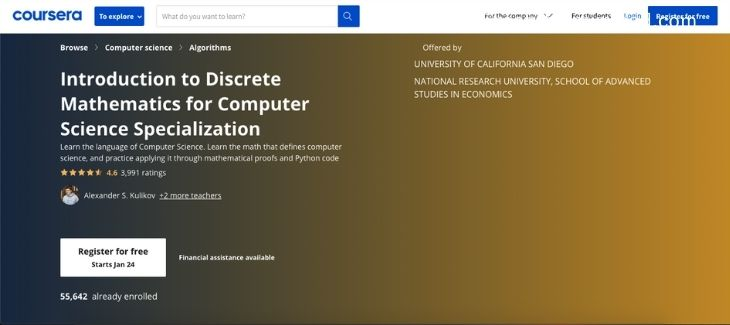Coursera - Introduction to discrete mathematics for computer science specialization