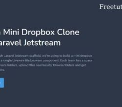 Codecourse – Build a Mini Dropbox Clone with Laravel Jetstream
