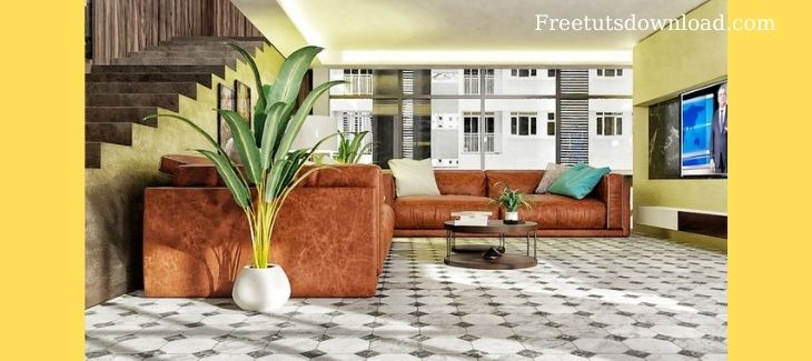 Realistic Interior creation render with blender from scratch
