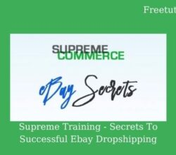 Supreme Training - Secrets To Successful Ebay Dropshipping