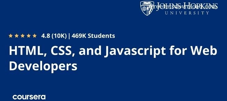 Coursera – HTML, CSS, and Javascript for Web Developers