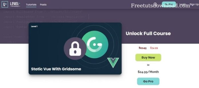 [leveluptutorials] Static Vue With Gridsome free download