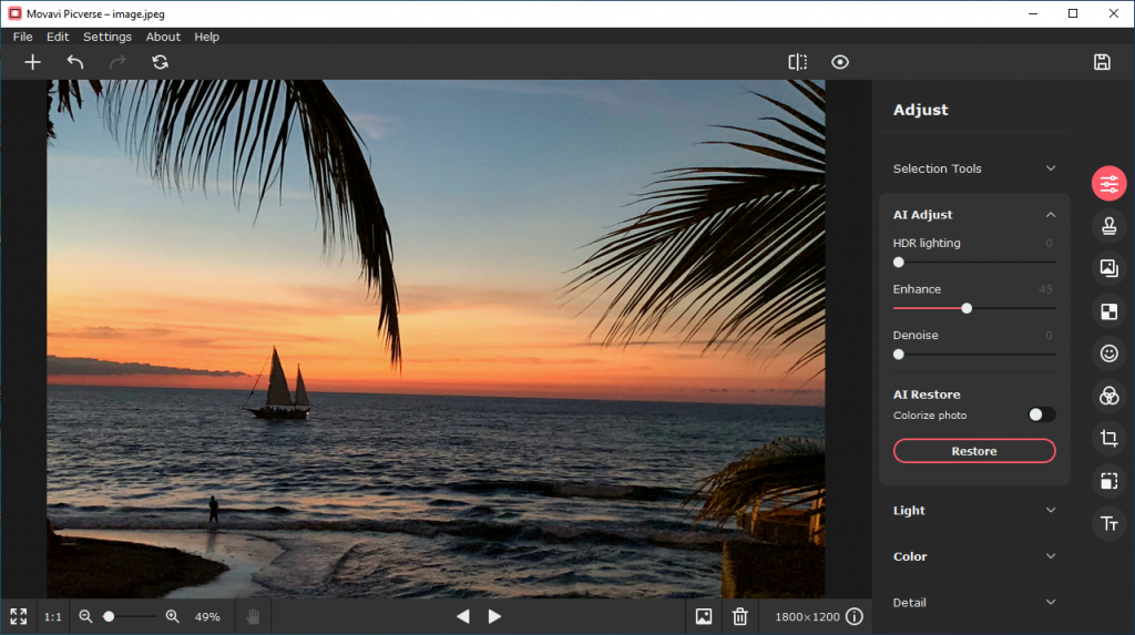 Download Movavi Picverse 1.1.0 - Photo editing with AI