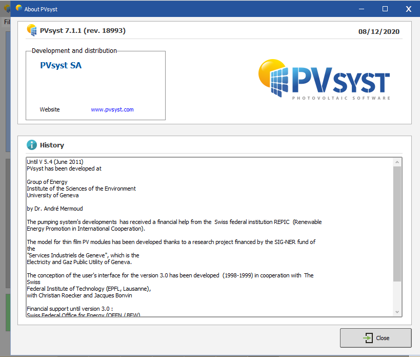 Download PVsyst Pro 7.2 – Installation guide