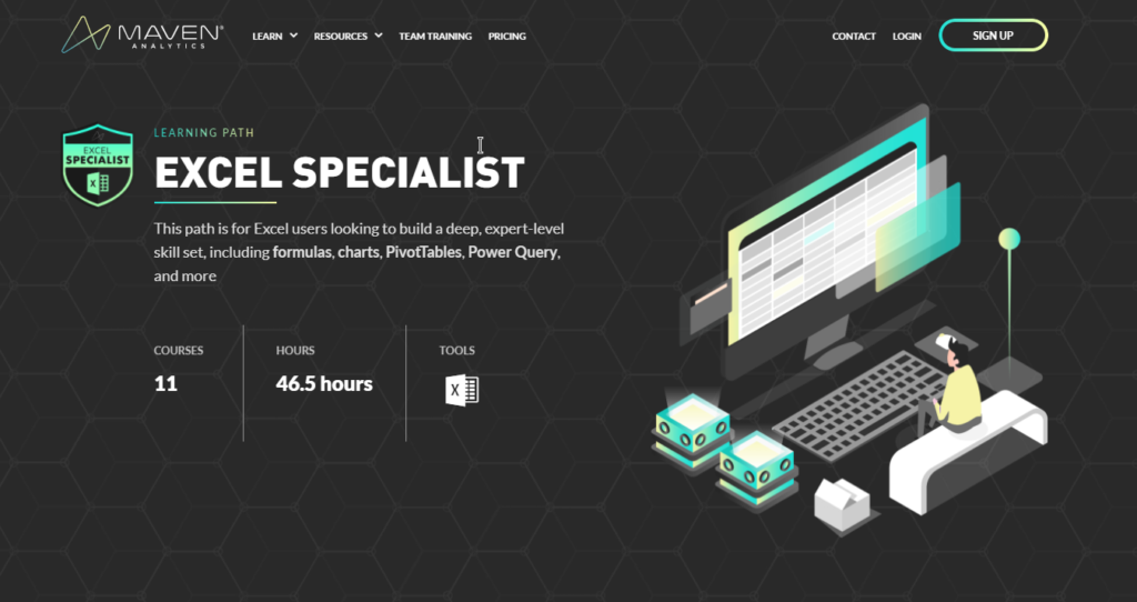 Maven Analytics - Become a EXCEL SPECIALIST