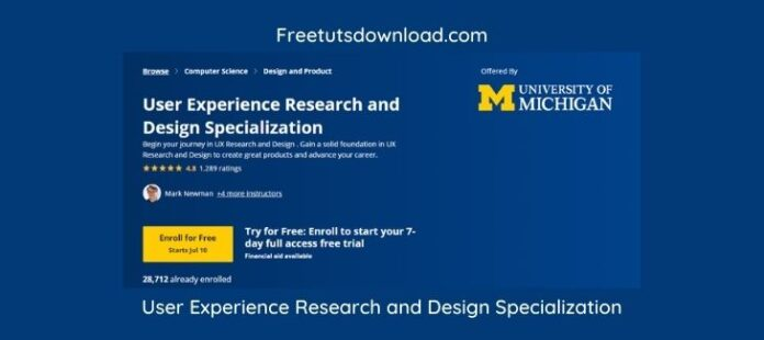 User Experience Research and Design Specialization