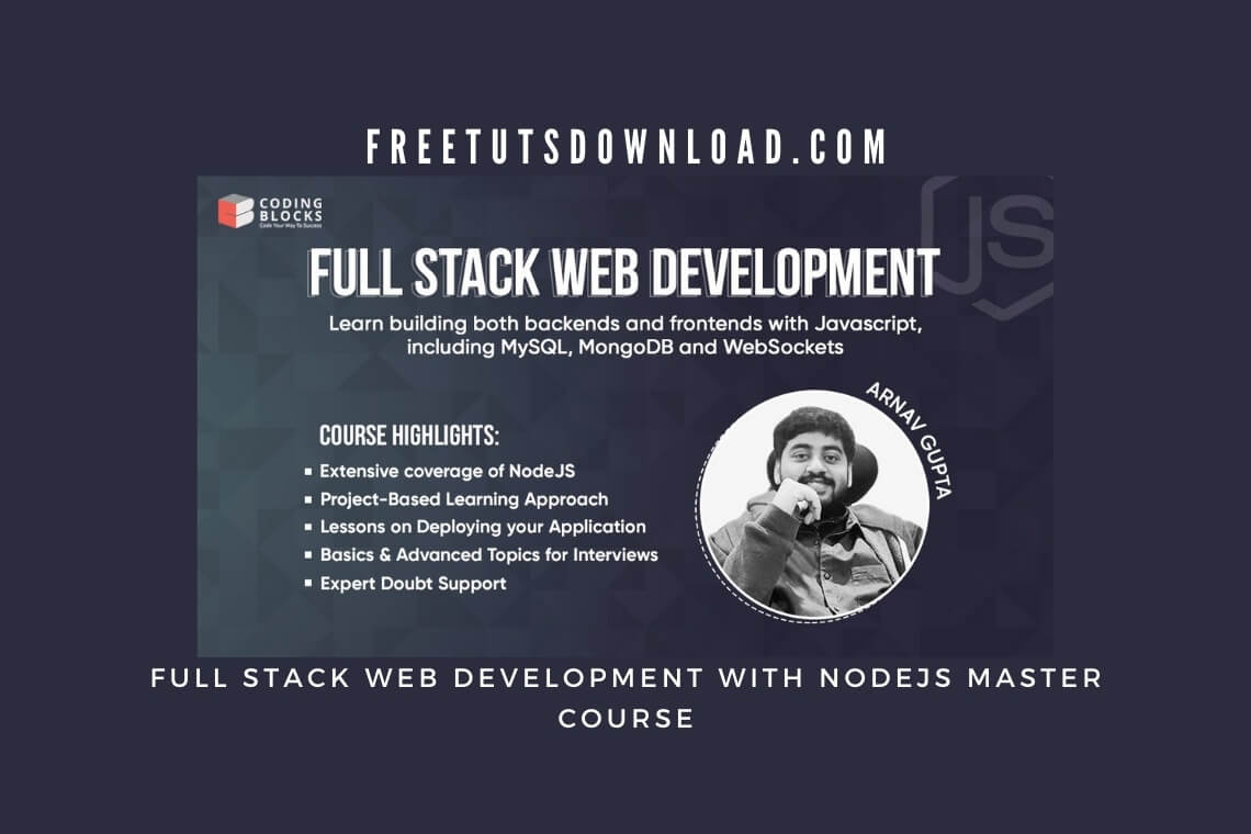 Full Stack Web Development with NodeJS Master Course
